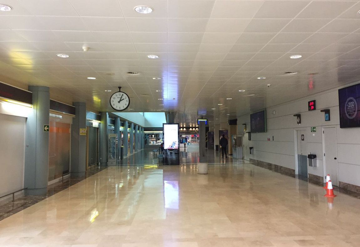 Techo aeropuerto Asturias